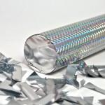 Пневмохлопушка 8230 Серебряное конфетти в пластиковой тубе, 30 см